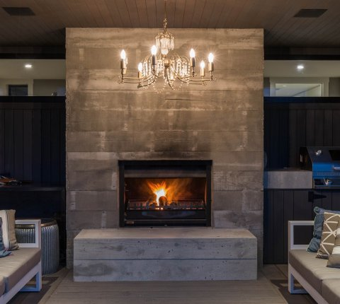 Stunning off-the-board concrete features in Queenstown home