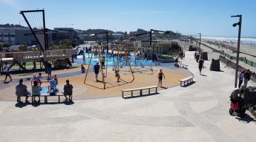Art in the concrete … at New Brighton Beachside Playground
