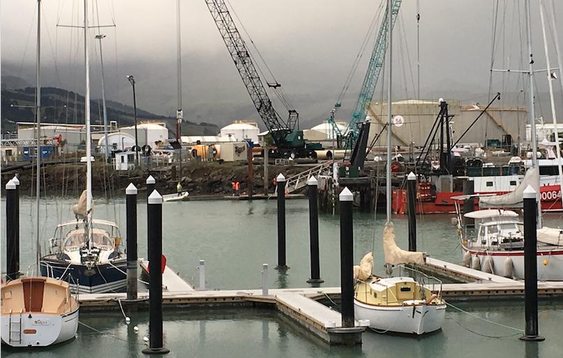 First yachts moor at Canterbury's new floating marina Image