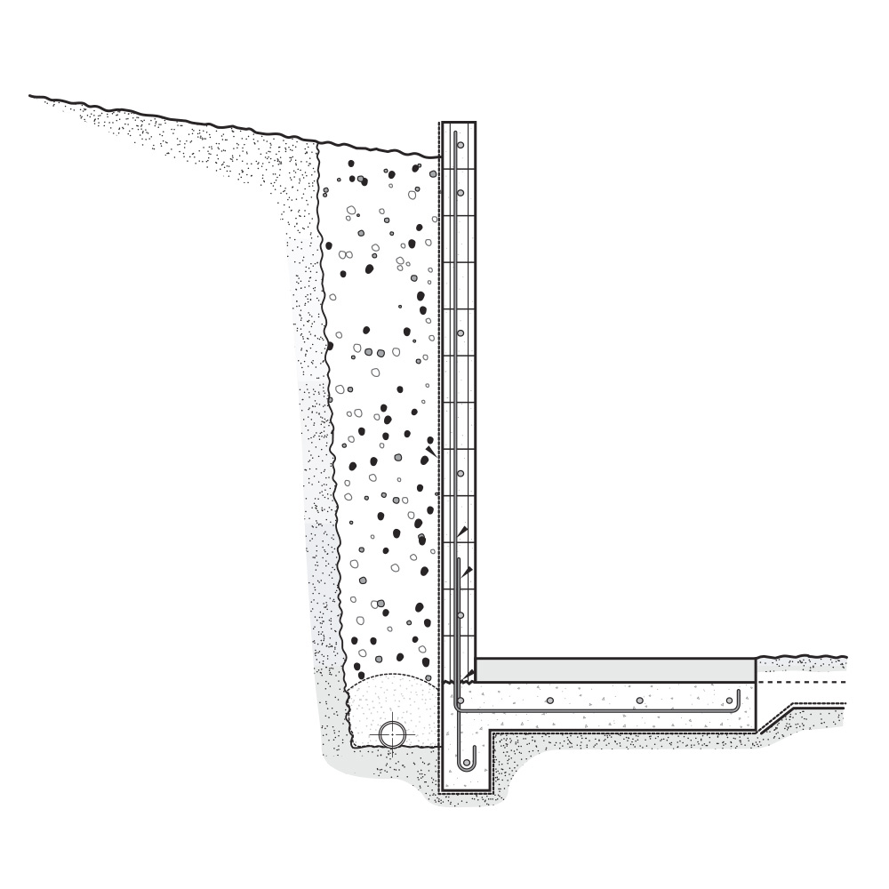 cantilever retaining walls - Segmental Retaining Wall Design 2